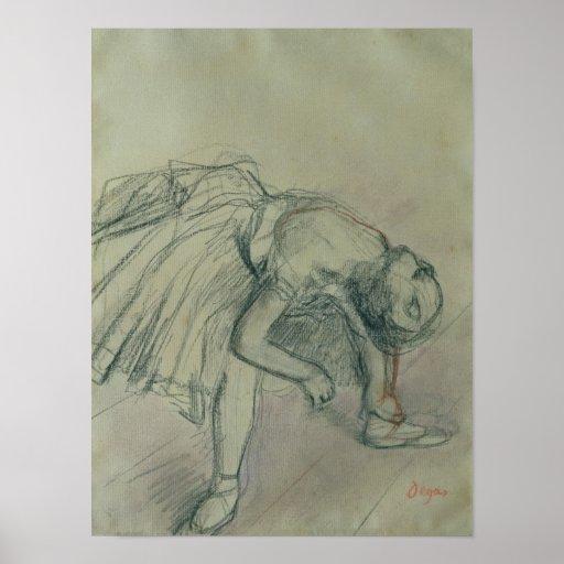 Dancer Fixing her Slipper, c.1865 Print