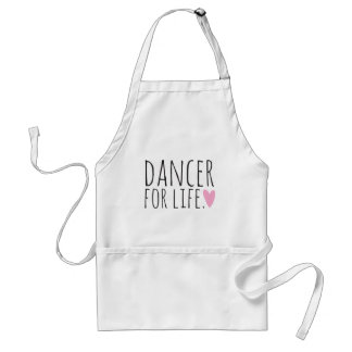 Dancer For Life Black with Heart Adult Apron
