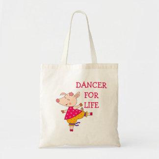 Dancer for Life Dancer Classic Ballroom Budget Tote Bag