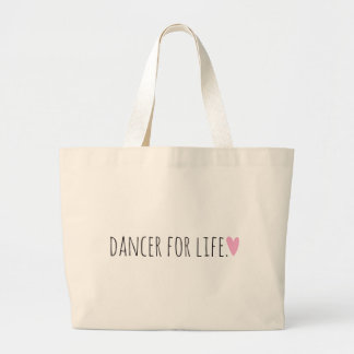 Dancer for Life with Heart Jumbo Tote Bag