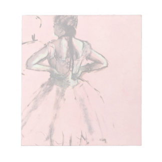 Dancer from the Back by Edgar Degas Vintage Ballet Notepad