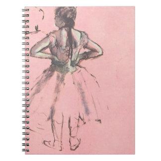 Dancer from the Back by Edgar Degas Vintage Ballet Spiral Notebook