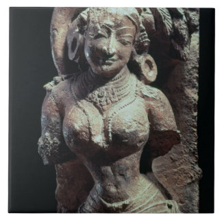 Dancer, from the Sun Temple of Kanara, Indian, 13t Large Square Tile