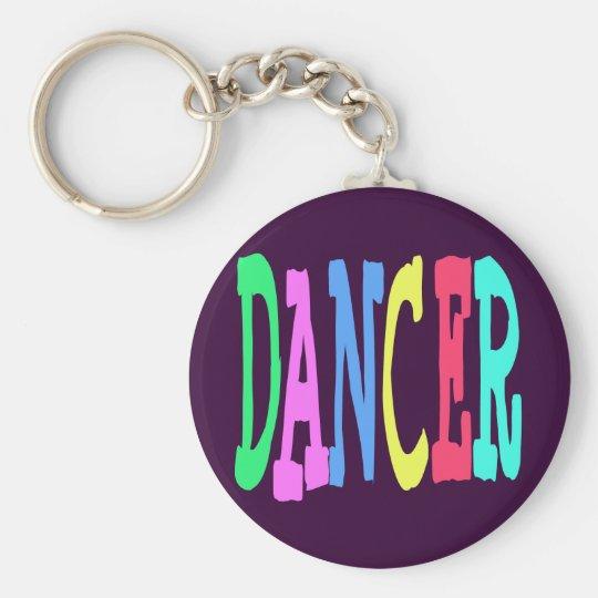 DANCER GIFT BASIC ROUND BUTTON KEY RING