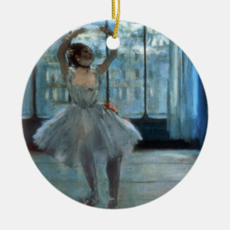 Dancer in Front of a Window Round Ceramic Decoration
