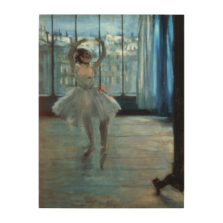 Dancer in Front of a Window Wood Canvas