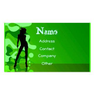 Dancer In Green Business Card