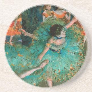 Dancer in Green by Edgar Degas Coaster