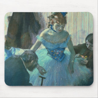 Dancer in her dressing room mouse pad