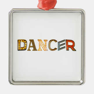 Dancer In Lights Christmas Ornaments
