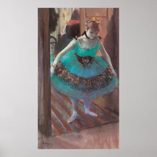 Dancer Leaving Her Dressing Room by Edgar Degas Poster
