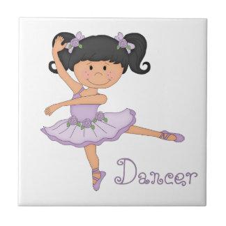 Dancer-Little Ballerina Small Square Tile