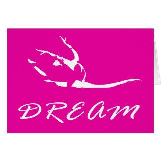 Dancer or Gymnast in Pink Greeting Card