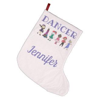 DANCER Personalized Purple Pink Ballet Tap Jazz Large Christmas Stocking
