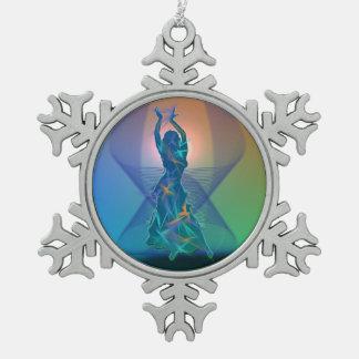 Dancer *Pheja* Pewter Snowflake Decoration