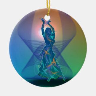 Dancer *Pheja* Round Ceramic Decoration