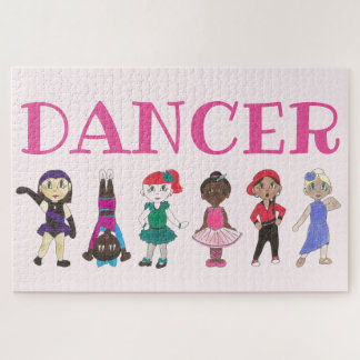 DANCER Pink Ballet Ballerina Tap Dance Teacher Jigsaw Puzzle