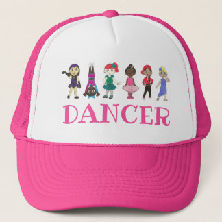 DANCER Pink Ballet Tap Jazz Lyrical Acro Teacher Trucker Hat