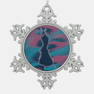 Dancer *Porcha* Pewter Snowflake Decoration