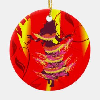 Dancer *Rayjii* Round Ceramic Decoration