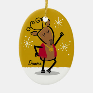 Dancer Reindeer Custom Ornament