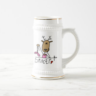 Dancer Reindeer T-shirts and Gifts Beer Stein