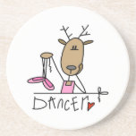 Dancer Reindeer T-shirts and Gifts Beverage Coasters