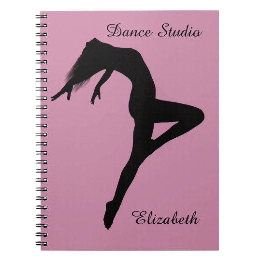 Dancer Retire Silhouette Personalised Notebooks