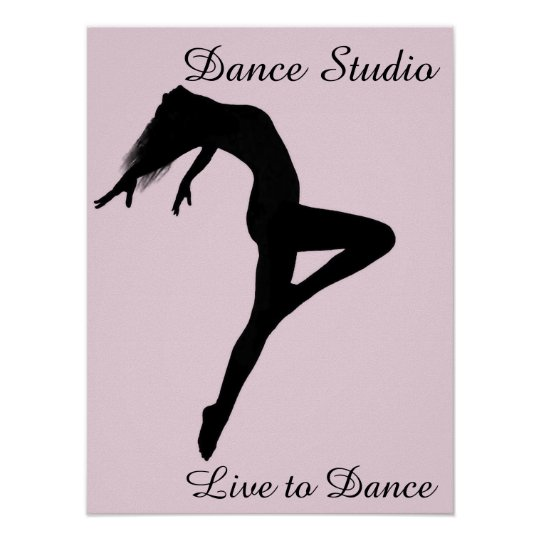 Dancer Retire Silhouette Personalised Poster
