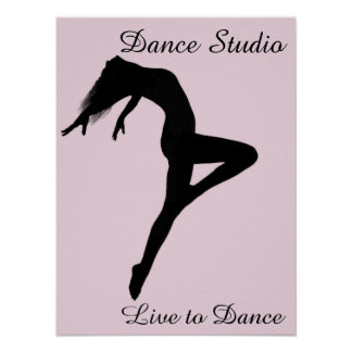 Dancer Retire Silhouette Personalized Poster