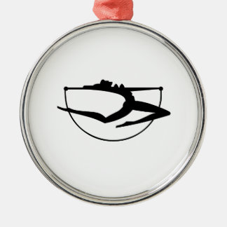 Dancer Silhouette Christmas Ornaments