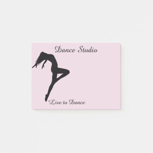 Dancer Silhouette Personalised Pick Any Colour Post-it Notes