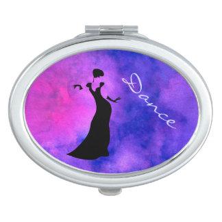 Dancer Silhouette Travel Mirrors