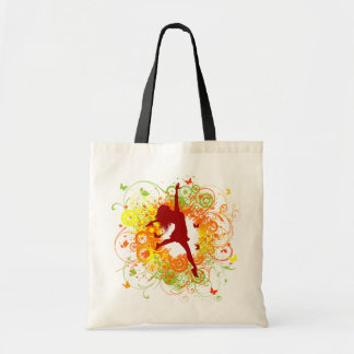 Dancer Silhouette Tote Bag