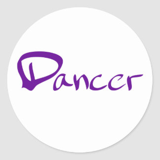 Dancer Round Stickers