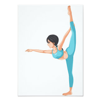Dancer Stretching Invitations