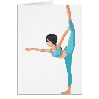Dancer Stretching Note Cards