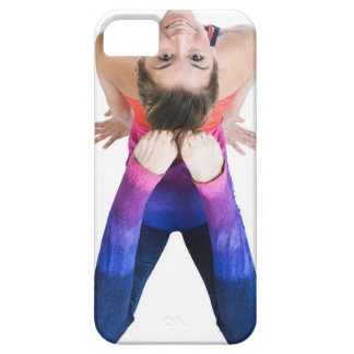 Dancer touching feet to head iPhone 5 cases