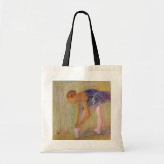Dancer Tying Her Ballet Shoes, Bag