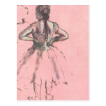 Dancer Viewed from the Back by Edgar Degas Post Cards