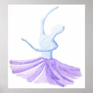 DANCER WATERCOLOR print
