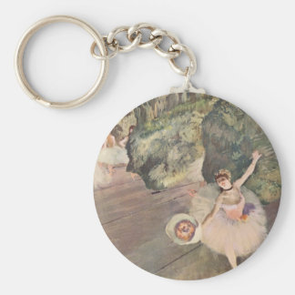 Dancer with a Bouquet Basic Round Button Key Ring