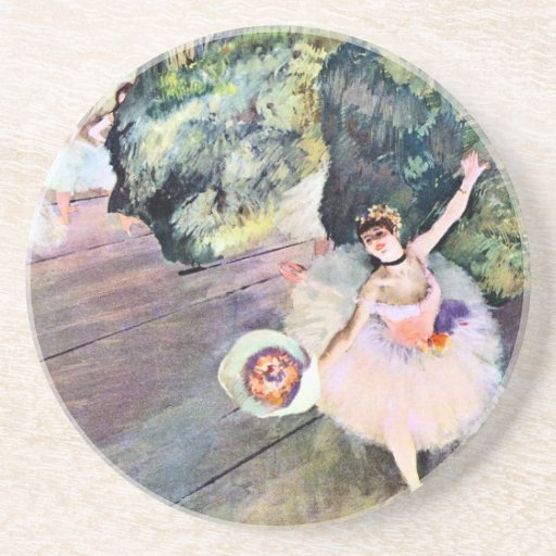 Dancer with a Bouquet of Flowers by Edgar Degas Coasters