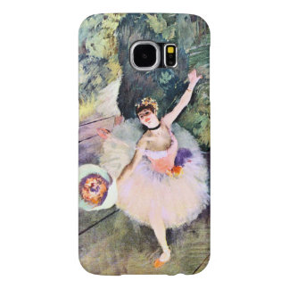 Dancer with a Bouquet of Flowers by Edgar Degas Samsung Galaxy S6 Cases