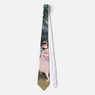 Dancer with a Bouquet of Flowers by Edgar Degas Tie