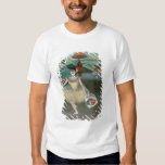 Dancer with bouquet, curtseying, 1877 tees