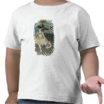 Dancer with bouquet, curtseying, 1877 tshirt