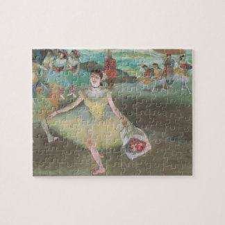 Dancer with Bouquet, Curtsying by Edgar Degas Jigsaw Puzzle
