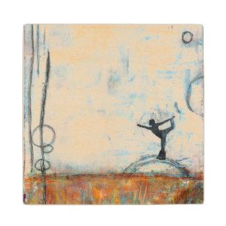 Dancer Yoga Girl Wooden Coaster Wood Coaster