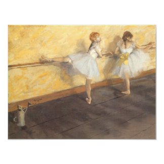 Dancers at the Bar by Edgar Degas, Vintage Ballet 11 Cm X 14 Cm Invitation Card